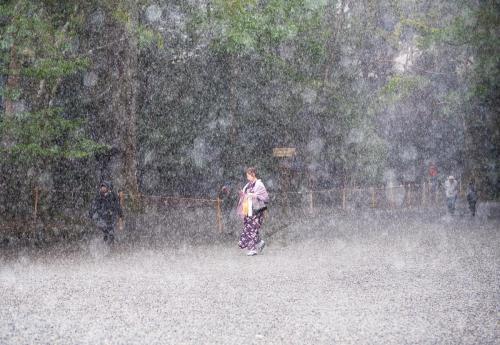 春霰 spring hail